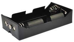4 Cell D Battery Holder With Snap Terminals 1