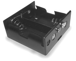 2 Cell D Battery Holder With Lead Wires and On-Off Lever Switch