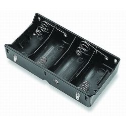 4 Cell D Battery Holder With Lead Wires 1