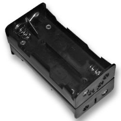 8 Cell C Battery Holder With Snap Terminals