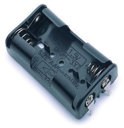 2 Cell AA Battery Holder With Snap Terminals 1