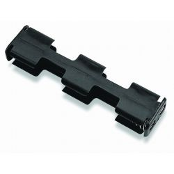 4 Cell AA Battery Holder With Snap Terminals