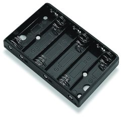 6 Cell AA Battery Holder - PCB Mount