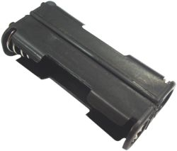 2 Cell AAA Battery Holder With Snap Terminals