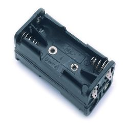4 Cell AAA Battery Holder With Snap Terminals
