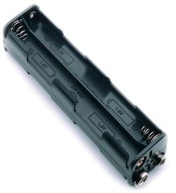 8 Cell AAA Battery Holder With Snap Terminals