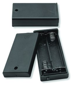 2 Cell AA Battery Holder With Cover and Lead Wires