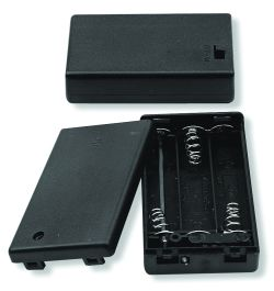 3 Cell AAA Battery Holder With Cover and Lead Wires
