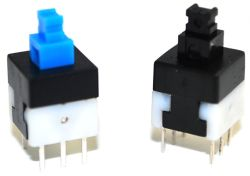 807/809 Series, DPDT, Latching and Momentary Pushbutton Switches