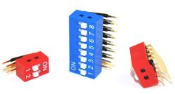 DA Series, SPST, Right Angle, Dip Switches