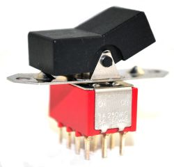R8401V Series, 4PDT, Miniature Rocker and Paddle Switches