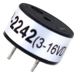 13.8 mm Piezo Audio Indicator, 3~16 VDC, 83 dB, 4.1 kHz, Continous, PCB Pins