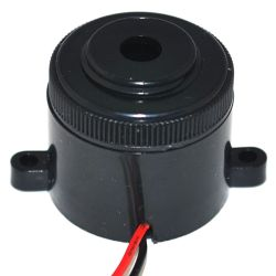 28 mm Piezo Audio Indicator, 3~24 VDC, 95 dB, 3.5 kHz, Continuous, Lead Wires