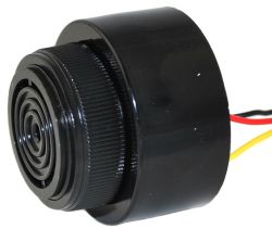 43 mm Piezo Audio Indicator, 6~28 VDC, 92 dB, 2.9 kHz, Continuous/Slow Pulse, Lead Wires