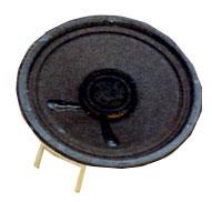 50 mm, Round Frame, 0.3 W, 8 Ohm, Alnico Magnet, Paper Cone Speaker w/PCB Pins