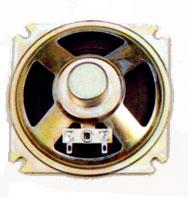 87 mm x 87 mm, Square Frame, 1.0 W, 8 Ohm, Alnico Magnet, Paper Cone Speaker
