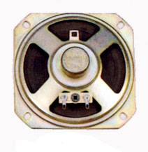 92 mm x 92 mm, Square Frame, 1.0 W, 8 Ohm, Alnico Magnet, Paper Cone Speaker