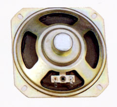 103 mm x 103 mm, Square Frame, 2.0 W, 8 Ohm, Alnico Magnet, Paper Cone Speaker