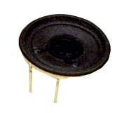 40 mm, Round Frame, 0.2 W, 8 Ohm, Neodymium Magnet, Paper Cone, Low Profile Speaker w/PCB Pins