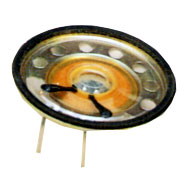 50 mm, Round Frame, 0.2 W, 8 Ohm, Neodymium Magnet, Mylar Cone, Low Profile Speaker w/PCB Pins
