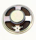 66 mm, Round Frame, 0.5 W, 8 Ohm, Ferrite Magnet, Paper Cone Speaker