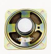 77 mm x 77 mm, Square Frame, 1.0 W, 8 Ohm, Ferrite Magnet, Paper Cone Speaker