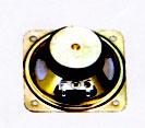 77 mm x 77 mm, Square Frame, 3.0 W, 4 Ohm, Ferrite Magnet, Mylar Cone Speaker