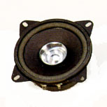 101 mm, Round Frame, 8.0 W, 8 Ohm, Ferrite Magnet, Paper Cone Speaker w/Mounting Ears,