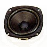 114 mm x 114 mm, Round Frame, 25.0 W, 8 Ohm, Ferrite Magnet, Paper Cone Speaker