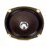 119 mm x 119 mm, Round Frame, 6.0 W, 8 Ohm, Ferrite Magnet, Paper Cone Speaker