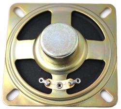 66 mm x 66 mm, Square Frame, 0.5 W, 8 Ohm, Alnico Magnet, Paper Cone Speaker