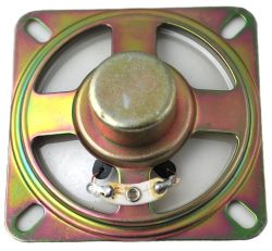 66 mm x 66 mm, Square Frame, 0.5 W, 8 Ohm, Alnico Magnet, Mylar Cone Speaker