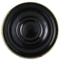 20 mm, Round Frame, 0.5 W, 8 Ohm, Neodymium Magnet, Mylar Cone, Low Profile Speaker
