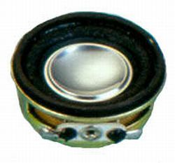 27 mm, Round Frame, 2.0 W, 8 Ohm, Neodymium Magnet, Paper Cone, High Output Power Speaker