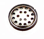 27 mm, Round Frame, 0.03 W, 32 Ohm, Neodymium Magnet, Mylar Cone, Low Profile Speaker w/Grill Cover