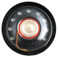 28 mm, Round Frame, 0.2 W, 8 Ohm, Neodymium Magnet, Mylar Cone, Low Profile Speaker