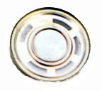 30 mm, Round Frame, 0.2 W, 8 Ohm, Neodymium Magnet, Mylar Cone, Low Profile Speaker
