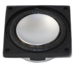 28 mm x 28 mm, Square Frame, 2.0 W, 8 Ohm, Neodymium Magnet, Mylar Dust Cap, Miniature Monitor Speaker