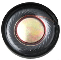 27 mm, Round Frame, 0.1 W, 8 Ohm, Ferrite Magnet, Mylar Cone, Low Profile Speaker