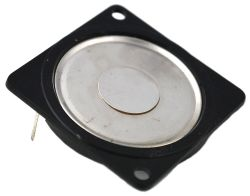 40 mm x 40 mm, Square Frame, 0.4 W, 8 Ohm, Ferrite Magnet, Mylar Cone, Low Profile Speaker w/PCB Pins