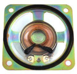 50 mm x 50 mm, Square Frame, 0.25 W, 8 Ohm, Alnico Magnet, Mylar Cone Speaker