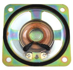 57 mm x 57 mm, Square Frame, 0.25 W, 8 Ohm, Ferrite Magnet, Mylar Cone Speaker