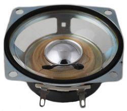 66 mm x 66 mm, Square Frame, 3.0 W, 8 Ohm, Ferrite Magnet, Mylar Cone Speaker