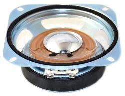 102 mm x 102 mm, Square Frame, 10.0 W, 2 Ohm, Ferrite Magnet, Mylar Cone Speaker