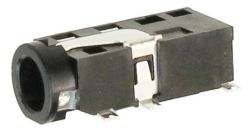 3.5 mm, Right Angle, Stereo Jack- Surface Mount (SMT)