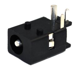 1.65 mm Center Pin, 2.0 A, Right Angle, PCB Mount, DC Power Jack