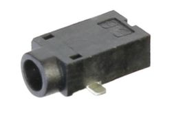 0.65 mm Center Pin, 2.0 A, Right Angle, Surface Mount (SMT), DC Power Jack
