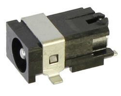 1.65 mm Center Pin, 2.0 A, Right Angle, Surface Mount (SMT), DC Power Jack with Shield