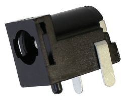 2.35 mm Center Pin, 3.0 A, Right Angle, PCB Mount, Locking DC Power Jack