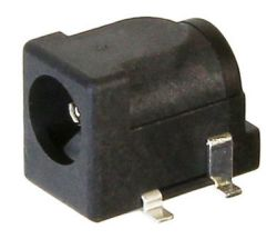 2.5 mm Center Pin, 1.0 A, Right Angle, Surface Mount (SMT), DC Power Jack
